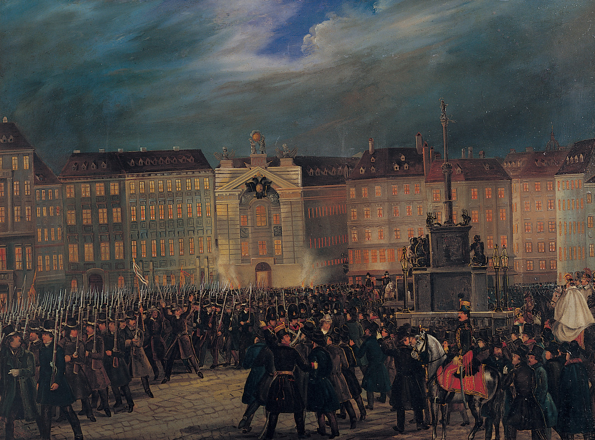Gemälde der Revolution 1848.
