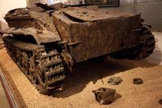 Überreste eines Panzers