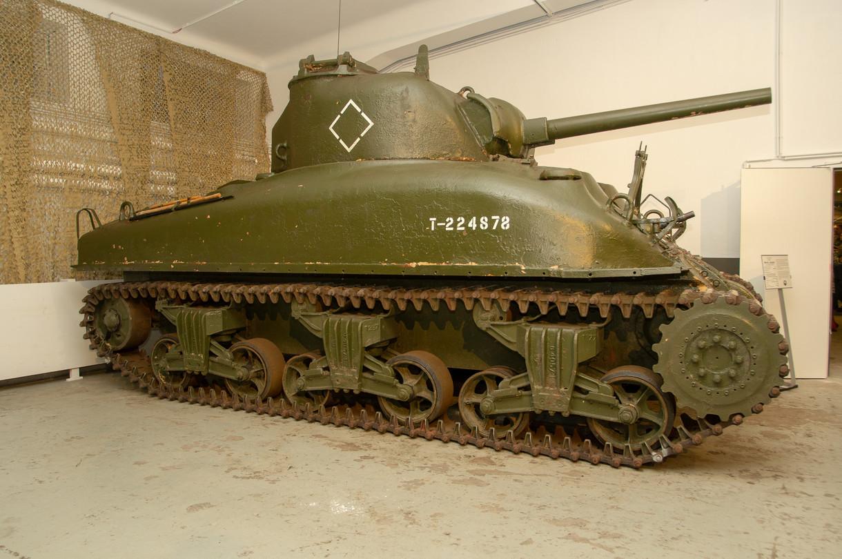 Panzerfahrzeug von der Seite
