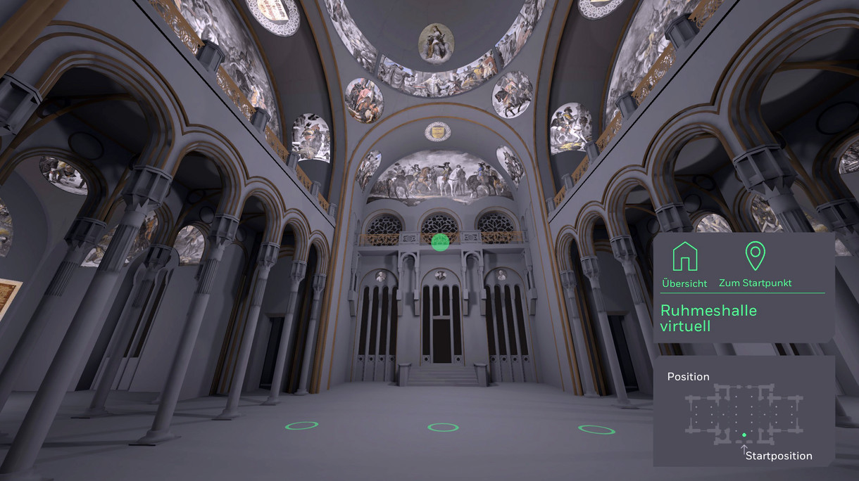 Ruhmeshalle im virtuellen Rundgang