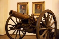 Kanone aus Bronze.