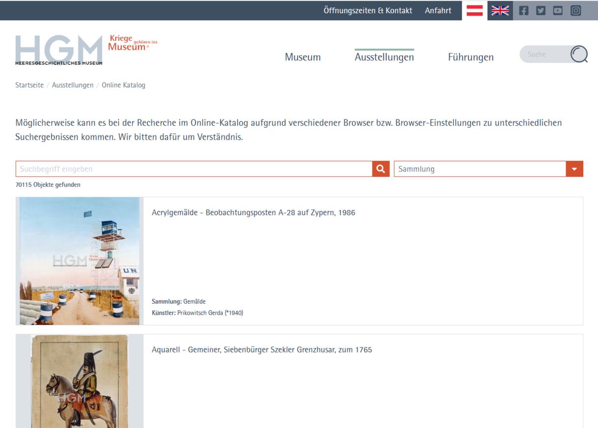 Seite im Online-Katalog.