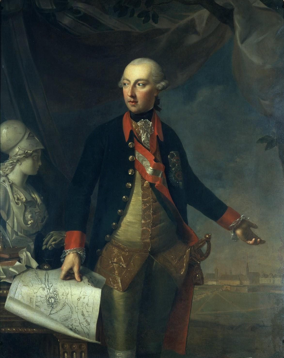Gemälde von Joseph II. in Uniform mit Ordensschmuck.