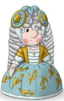 Maskottchen Eugen als Prinzessin.