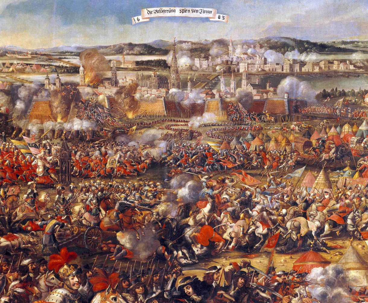 Gemälde über die Türkenbelagerung 1683.