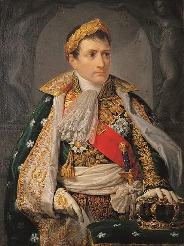 Gemälde von Napoleon I. in prunkvoller Robe.
