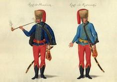 Zeichnung von zwei Männern in Uniform.