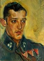 Gemälde mit Soldaten-Porträt.