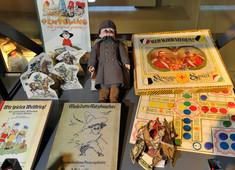 Kinderbücher und Spielzeuge.