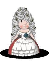 Maskottchen Eugen als Kaiserin Elisabeth.
