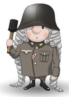 Maskottchen Eugen als Soldat der Reichswehr.
